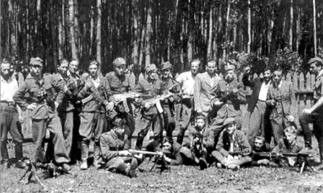 "Summer 1946. WiN partisans from Bolesław Mikus ""Żbik"" platoon from Major ""Orlik's"" unit"